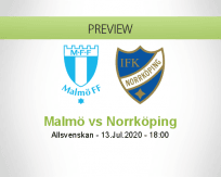Malmö FF Norrköping betting prediction (13 July 2020)