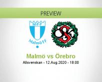Malmö FF Örebro betting prediction (12 August 2020)