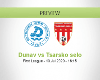 Dunav 2010 Tsarsko selo betting prediction (13 July 2020)