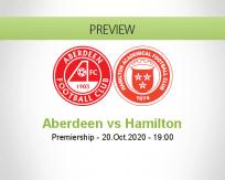 Aberdeen Hamilton Academical betting prediction (20 October 2020)