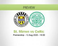 St. Mirren Celtic betting prediction (12 August 2020)