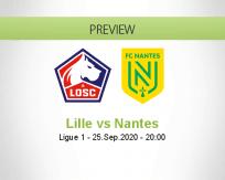 Lille Nantes betting prediction (26 September 2020)