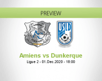 Amiens Dunkerque betting prediction (01 December 2020)