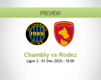Chambly Rodez betting prediction (01 December 2020)