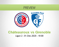 Châteauroux Grenoble betting prediction (01 December 2020)