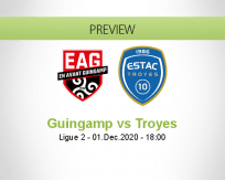 Guingamp Troyes betting prediction (01 December 2020)