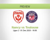 Nancy Toulouse betting prediction (01 December 2020)