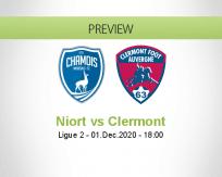 Niort Clermont betting prediction (01 December 2020)