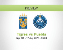 Tigres UANL Puebla betting prediction (12 August 2020)