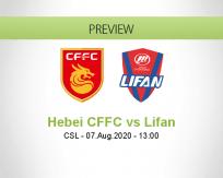 Hebei CFFC Chongqing Lifan betting prediction (07 August 2020)