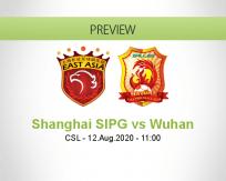 Shanghai SIPG Wuhan Zall betting prediction (12 August 2020)