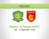 Beijing Guoan Hebei CFFC betting prediction (12 August 2020)