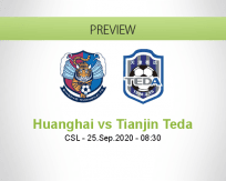 Qingdao Huanghai Tianjin Teda betting prediction (25 September 2020)