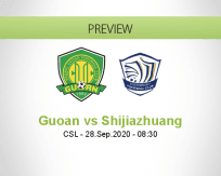 Beijing Guoan Shijiazhuang Ever Bright betting prediction (28 September 2020)