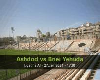 Ashdod Bnei Yehuda betting prediction (27 January 2021)