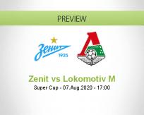 Zenit Lokomotiv Moskva betting prediction (07 August 2020)