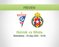 Górnik Zabrze Wisła Kraków betting prediction (26 September 2020)