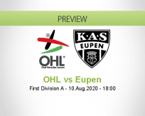 OH Leuven AS Eupen betting prediction (10 August 2020)