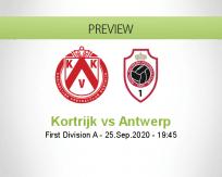 Kortrijk Antwerp betting prediction (26 September 2020)