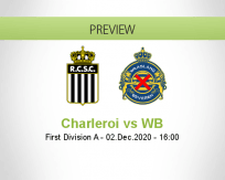 Charleroi WB betting prediction (02 December 2020)