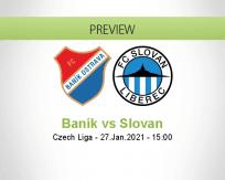 Baník Slovan betting prediction (27 January 2021)