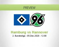 Hamburg Hannover betting prediction (05 December 2020)