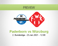Paderborn Würzburg betting prediction (23 January 2021)