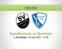 Sandhausen Bochum betting prediction (24 January 2021)