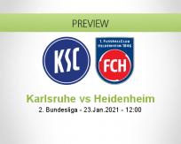 Karlsruhe Heidenheim betting prediction (23 January 2021)