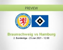 Braunschweig Hamburg betting prediction (23 January 2021)