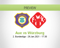 Aue Würzburg betting prediction (26 January 2021)