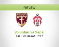 Voluntari Sepsi betting prediction (25 September 2020)