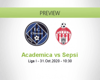 Academica Clinceni Sepsi betting prediction (31 October 2020)