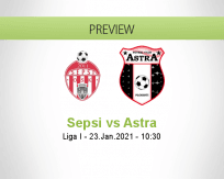 Sepsi Astra betting prediction (23 January 2021)