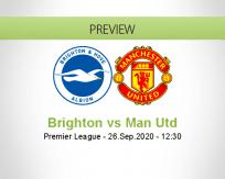 Brighton & Hove Albion vs Manchester United
