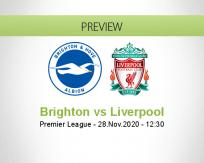 Brighton Liverpool betting prediction (28 November 2020)