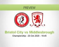 Bristol City Middlesbrough betting prediction (20 October 2020)