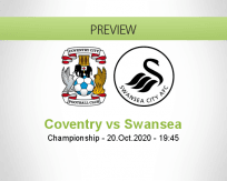 Coventry City Swansea City betting prediction (20 October 2020)