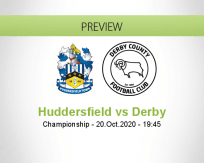 Huddersfield Town Derby County betting prediction (20 October 2020)