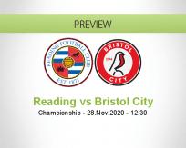 Reading Bristol City betting prediction (28 November 2020)