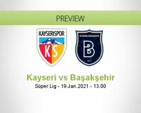 Kayseri Başakşehir betting prediction (19 January 2021)