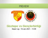 Göztepe Gençlerbirliği betting prediction (19 January 2021)