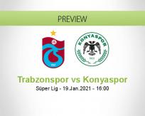 Trabzonspor Konyaspor betting prediction (19 January 2021)