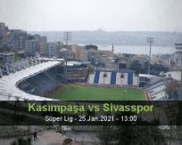 Kasımpaşa Sivasspor betting prediction (25 January 2021)