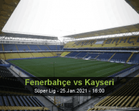 Fenerbahçe Kayseri betting prediction (26 January 2021)