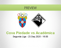 Cova Piedade Académica betting prediction (23 September 2020)