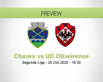 Chaves UD Oliveirense betting prediction (20 October 2020)