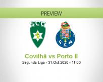 Sporting Covilhã Porto II betting prediction (31 October 2020)