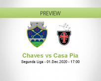 Chaves Casa Pia betting prediction (01 December 2020)