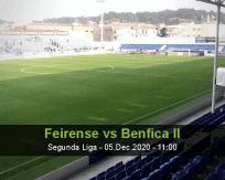 Feirense Benfica II betting prediction (05 December 2020)